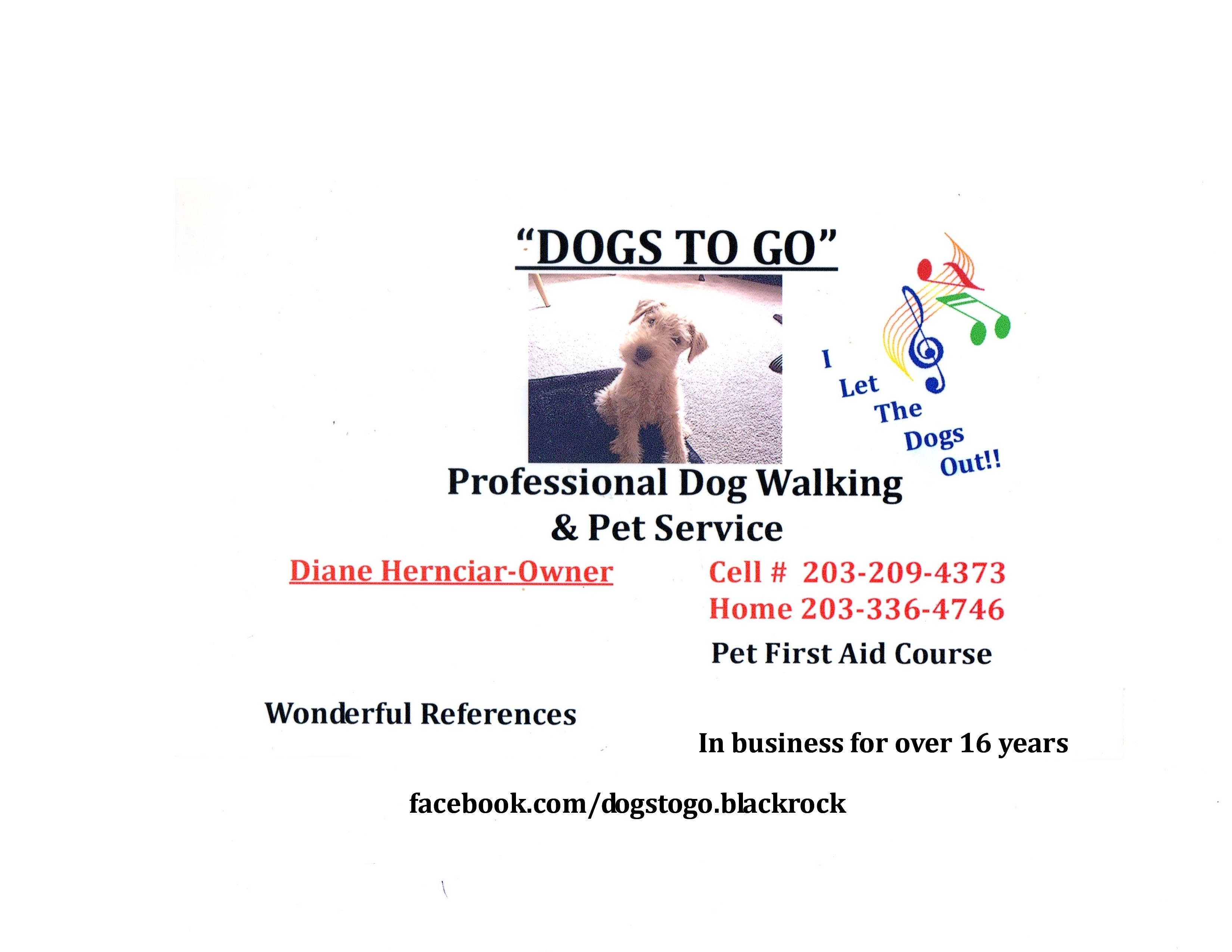 Fairfield ct for Professional dog walking service