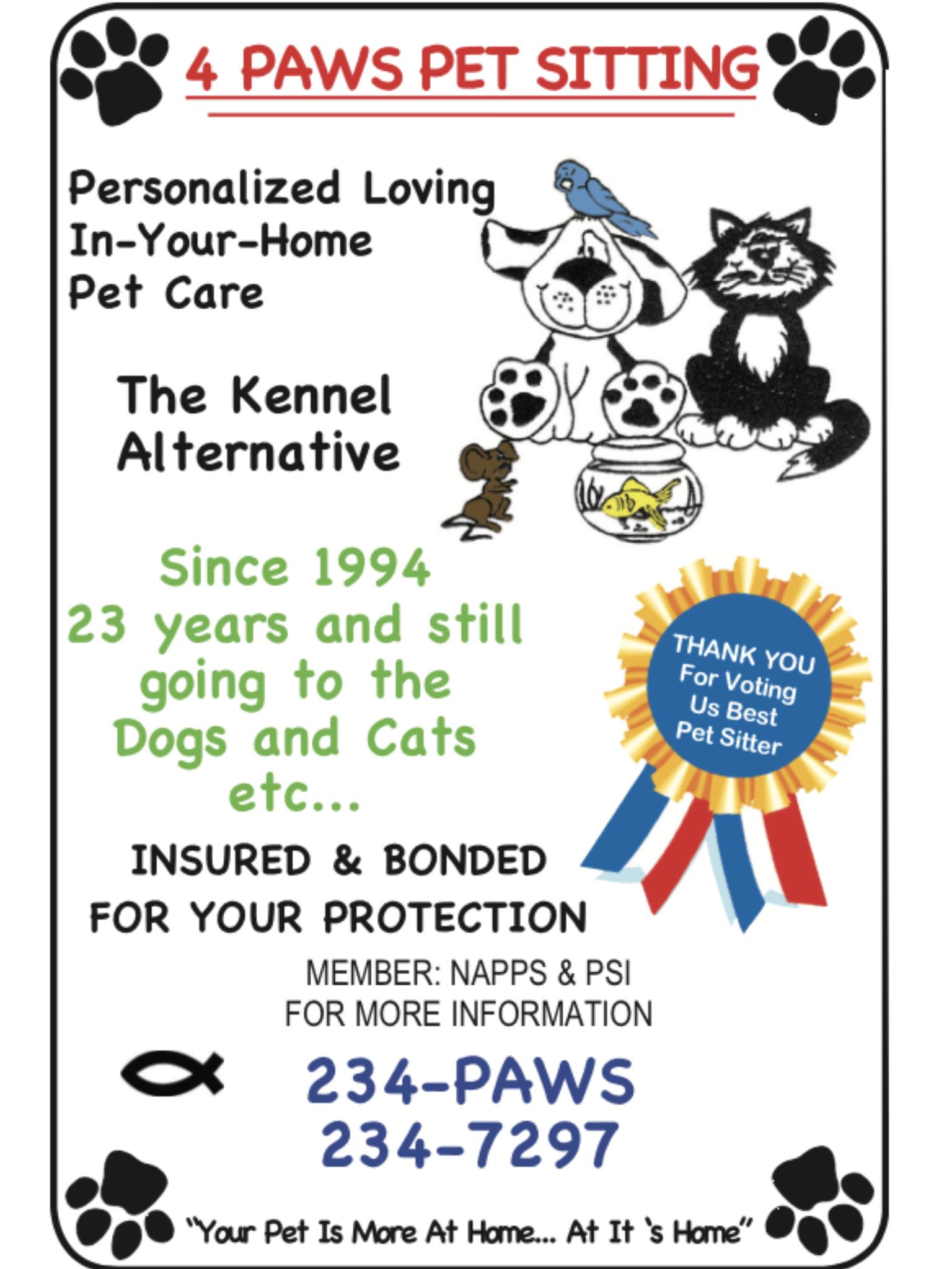 4 Paws Pet Sitting