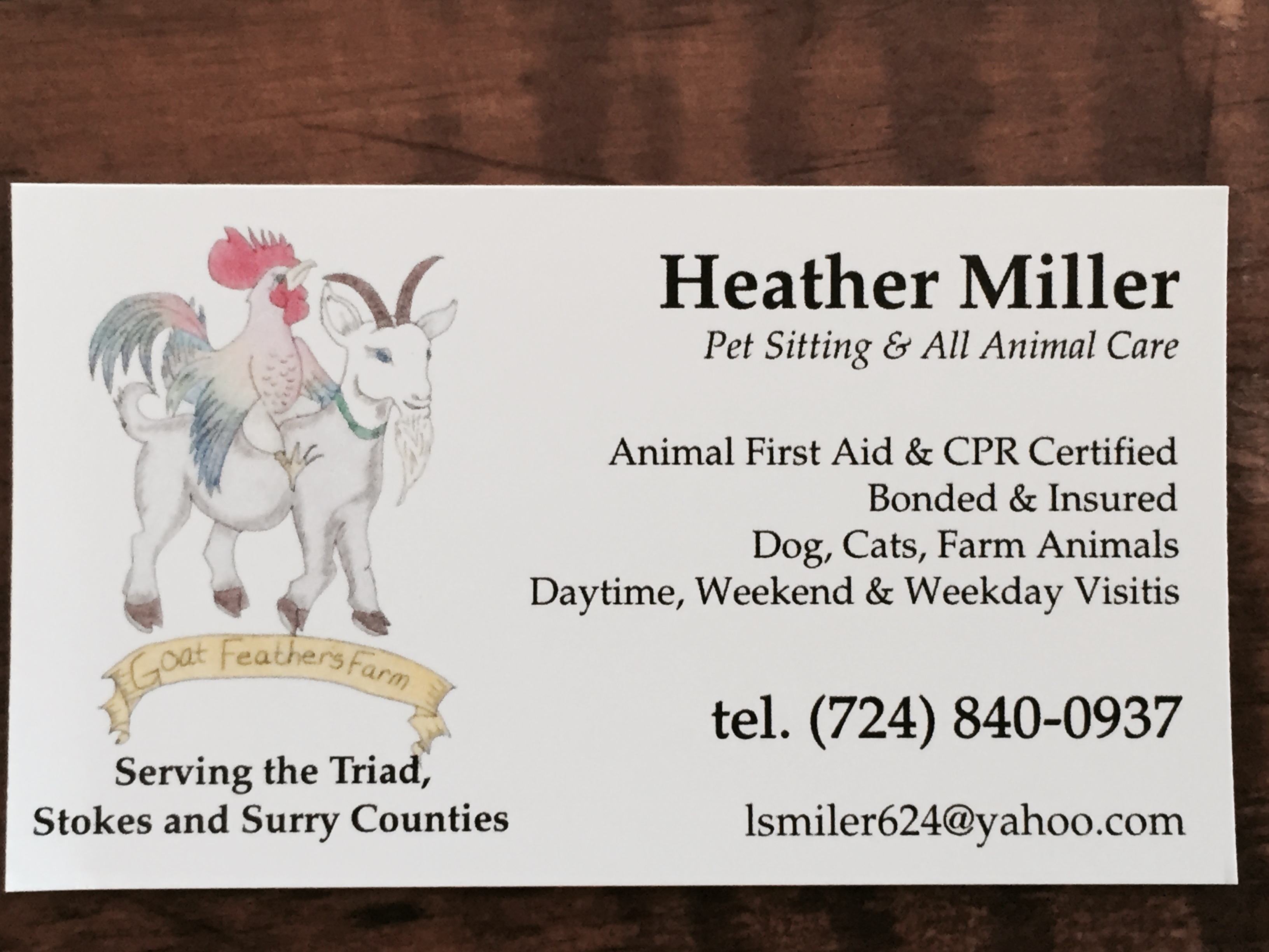 King nc certified professional pet sitter goat feathers farm 1betcityfo Choice Image