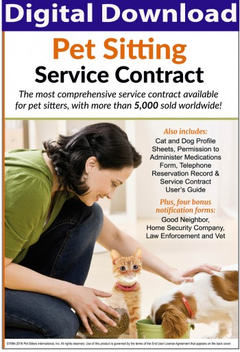 Pet Sitting Contract | Pet Sitting Services Agreement