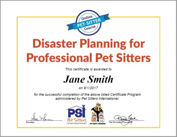 Online Certificate Program: Disaster Planning for Professional Pet ...