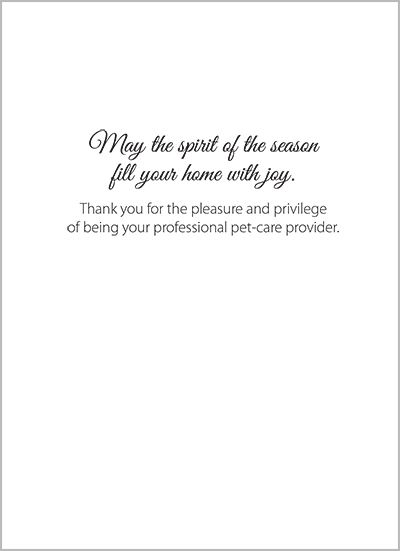 Pet sitter holiday cards new image block m4hsunfo