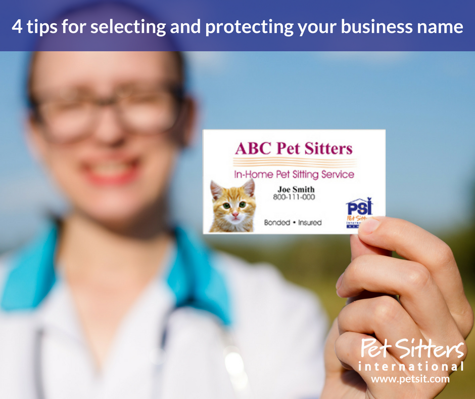 Choosing your pet-sitting business name